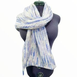 Hand Knit One Of A Kind Wide Scarf